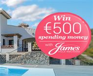 €500 prize draw with James Villas