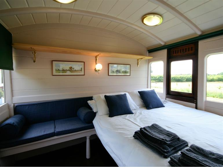 Bedroom in Railway Carriage One, Suffolk