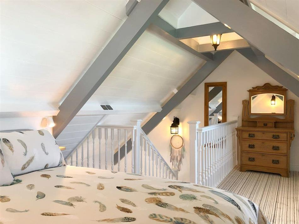 Bedroom in Wooldown Holiday Cottages - Stable Barn, Marhamchurch near Bude