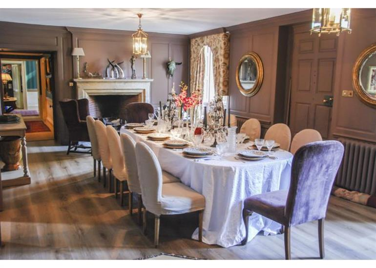 Dining room at Mears Ashby Hall, Midlands