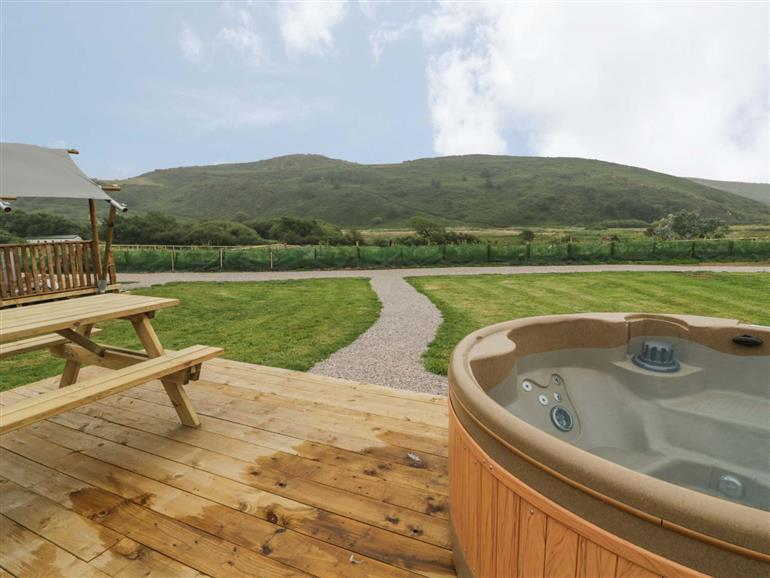 Hot tub at Celeste, Abersoch
