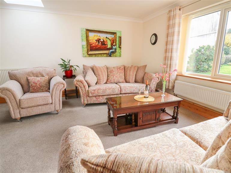 This is the living room at Avalon in Cilgerran