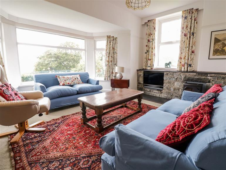 This is the living room at Bodriw in Harlech