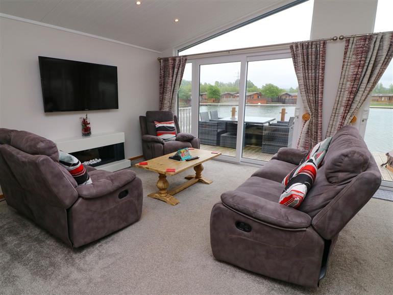 This is the living room at Capernwray 15 in South Lakeland Leisure Village