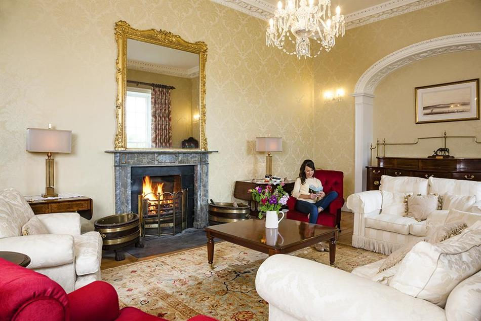 The living room at Carrick Manor in Ireland