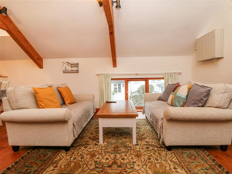 This is the living room at Crooke Barn near Tiverton