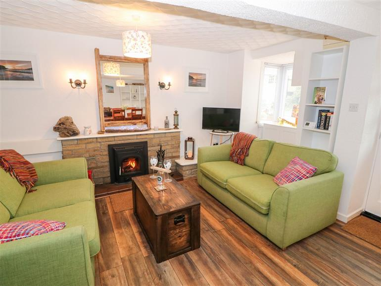 The living room at Derlwyn in Hermon near Newborough