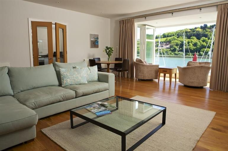 Living room in 22 Dart Marina, Dartmouth