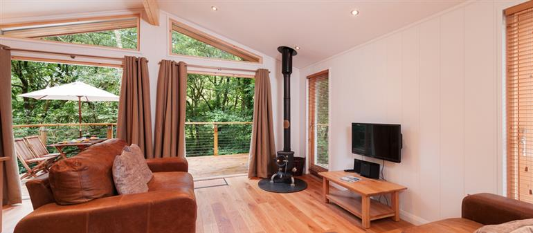 Living room in 8 Streamside, Lanreath
