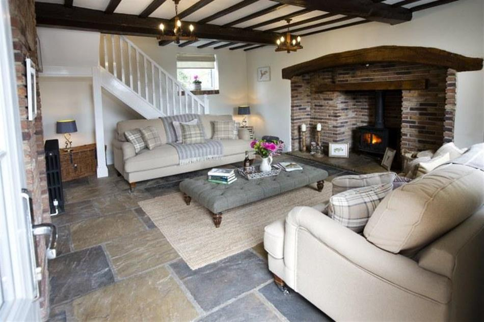 Living room in Acorn Barn, York