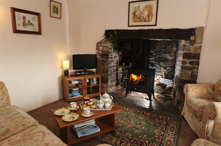 Living room in Adipit Cottage, Bideford