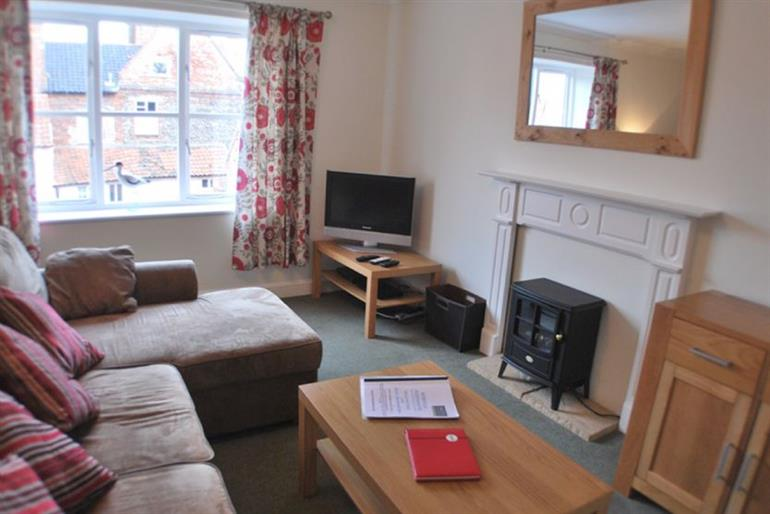 Living room in Avocet Apartment, Wells-next-the-Sea