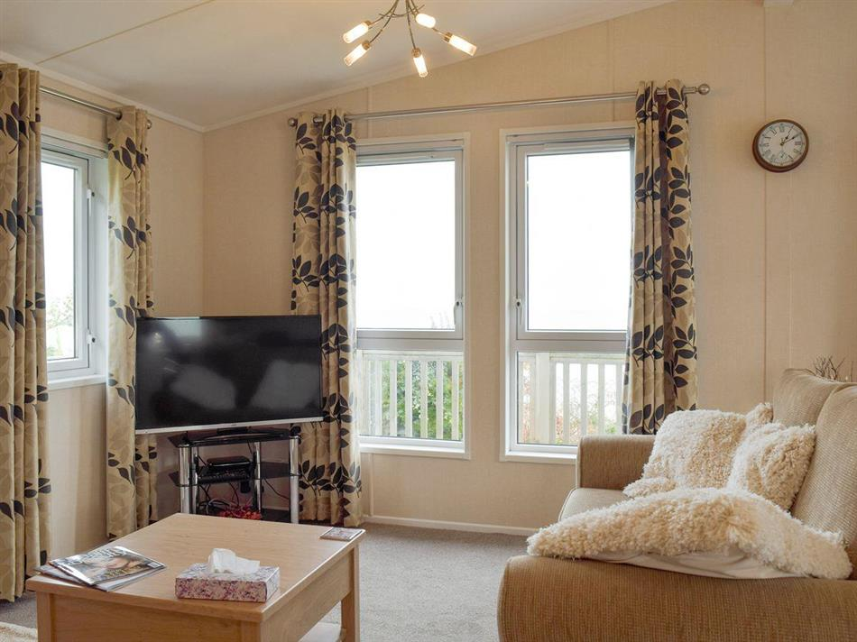 Living room in Azure View, Corton, near Lowestoft
