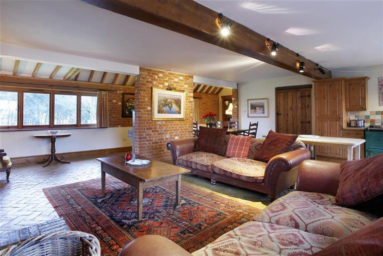 Living room in Bay View Barn, Iken