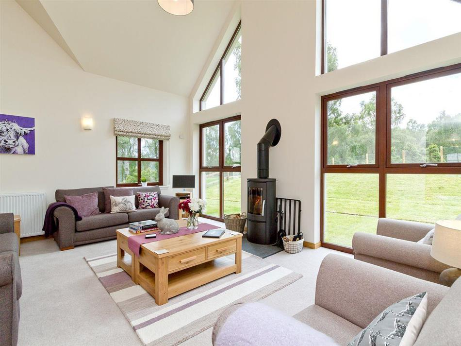 Living room in Birch Corner, Aviemore