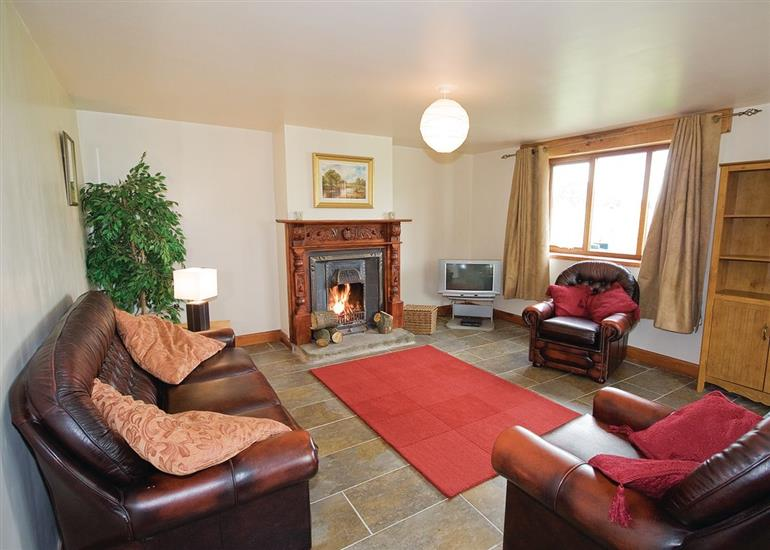 Living room in Bowford Cottage, Lancashire