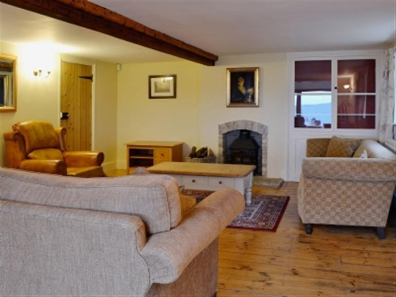 Living room in Briar Cottage, Amberley near Stroud