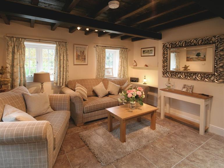Living room in Chestnut Cottage, Wainfleet St Mary near Skegness