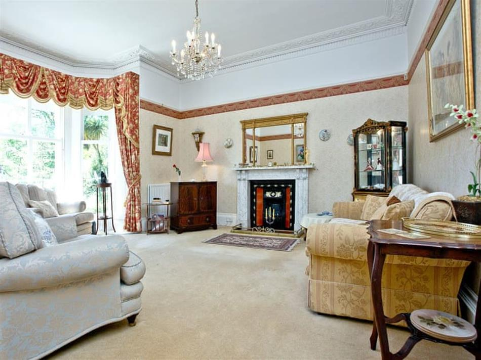 Living room in Clarence Grey House, Torquay
