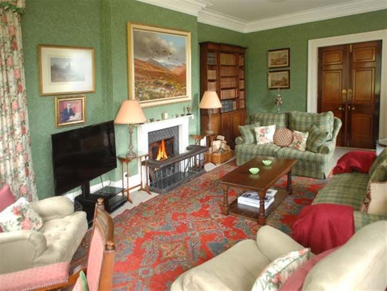 Living room in Crag Hall, Wildboarclough near Buxton