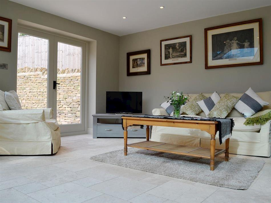 Living room in East Leaze, Chipping Campden, Gloucestershire