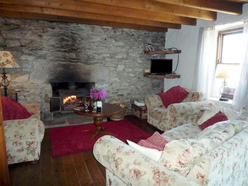 Living room in Eskadour Cottage, Near Lauragh, County Kerry