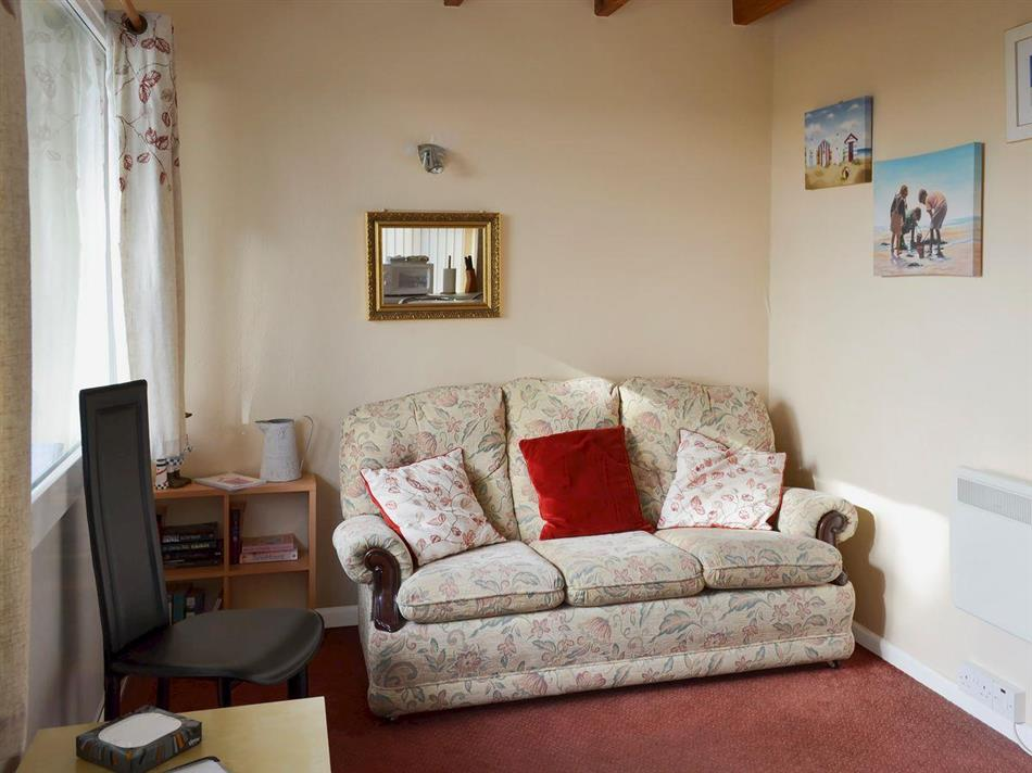 Living room in Flat F1, Dawlish Warren, Devon