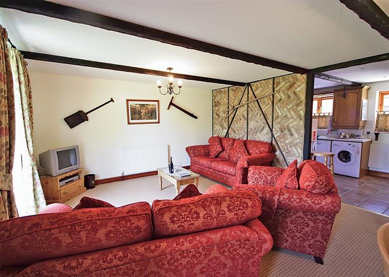 Living room in Gable Barn, Norfolk