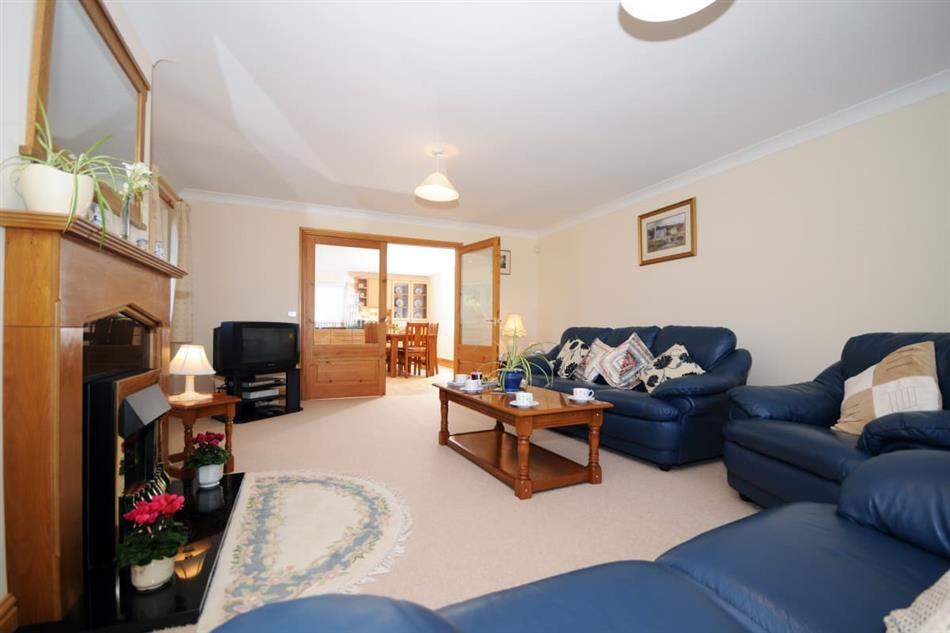 Living room in Gelli Gron 4 bed, Criccieth