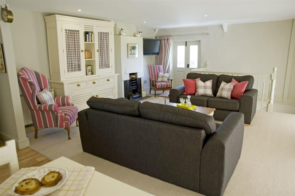 Living room in Gileston Coach House, Glam heritage coast