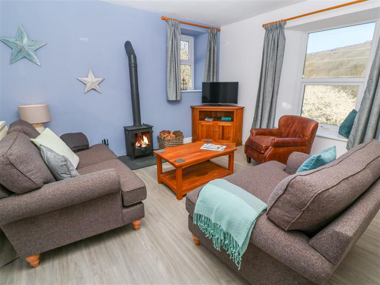 Living room in Glenmount Cottage, Portreath