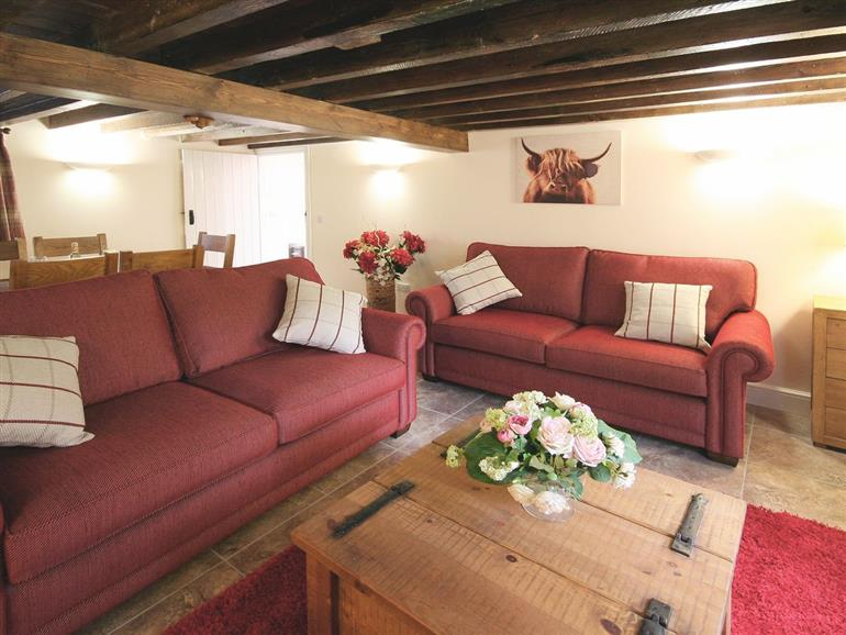 Living room in Granary Cottage, Wainfleet St Mary near Skegness
