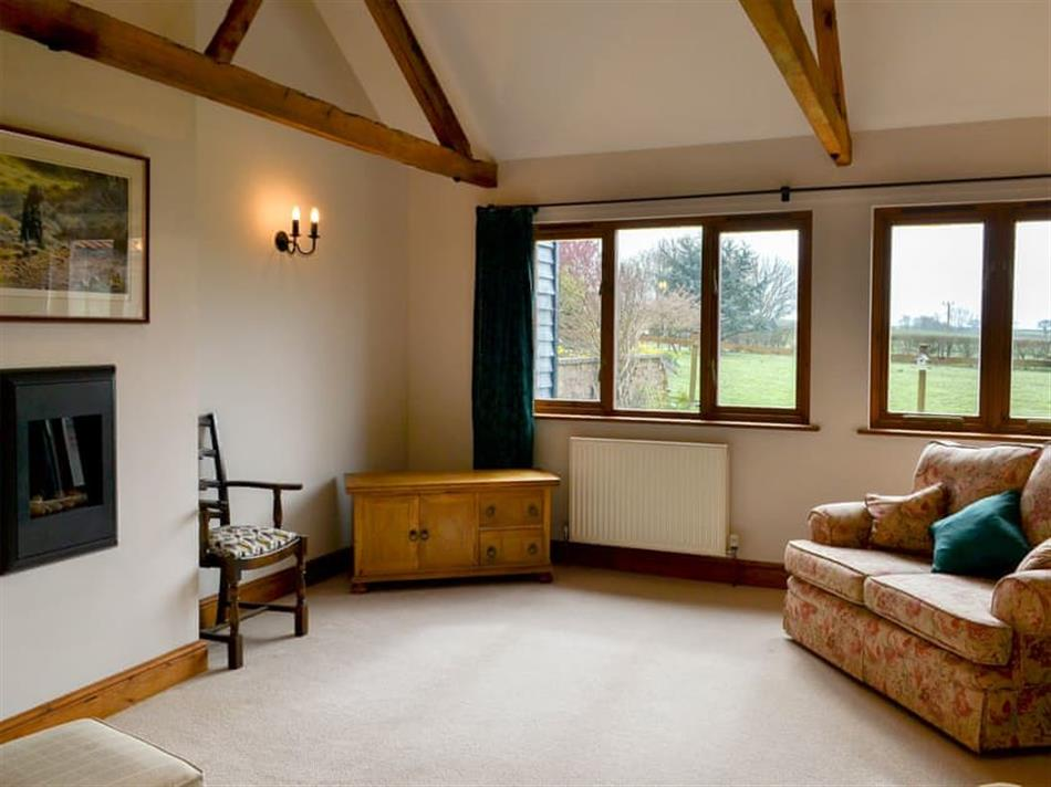 Living room in Greenacre Barn, Swaffam, near Dereham