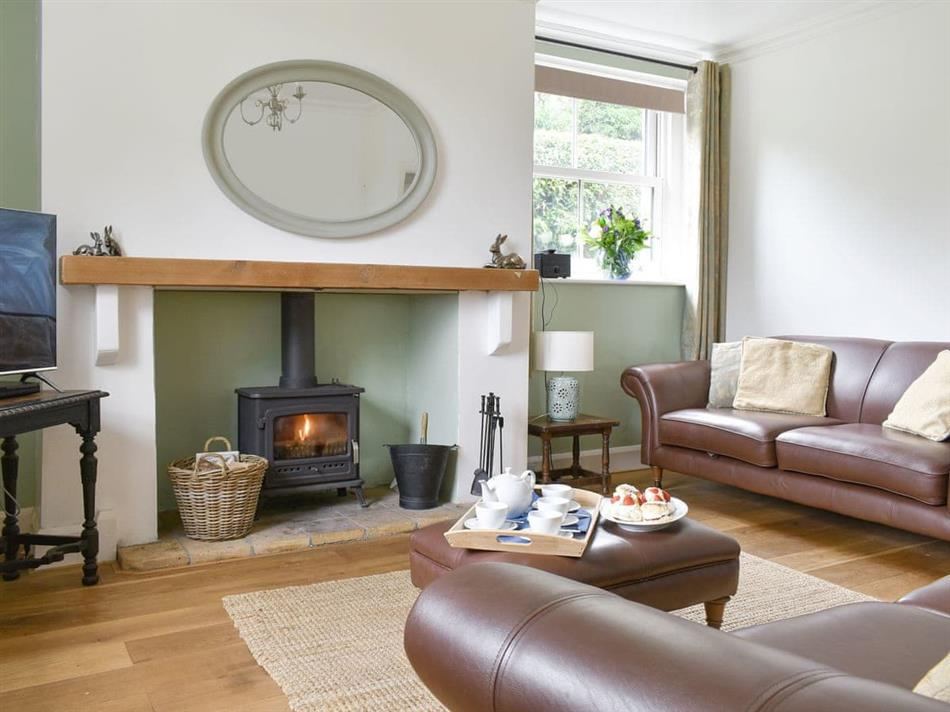 Living room in Heyburn Beck Farm - Hayburn Beck Farmhouse, Cloughton, near Scarborough