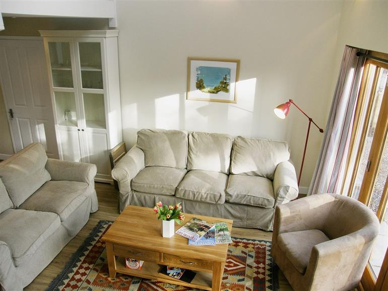 Living room in Maplescombe at Inadown Farm Holiday Homes, Newton Valence near Alton