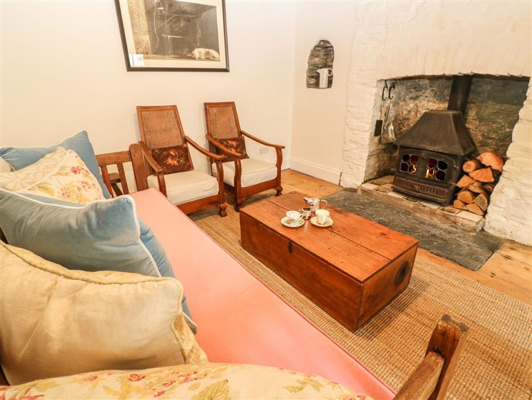 Living room in Miners Cottage, Calstock