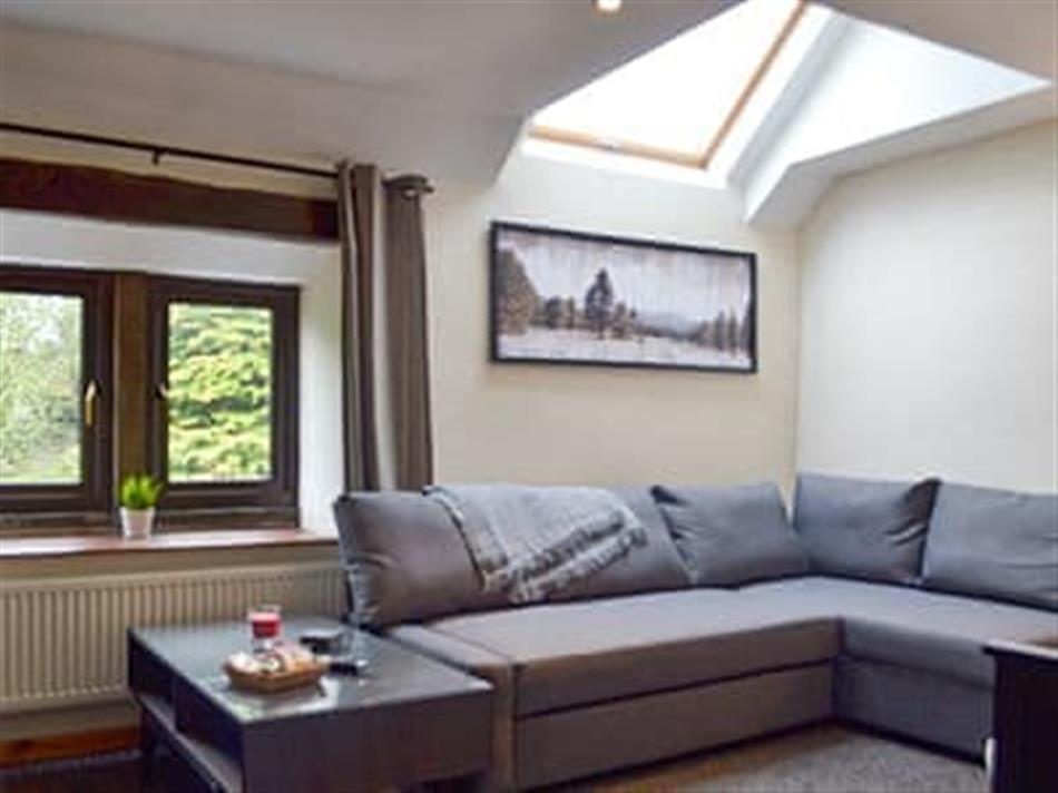 Living room in Moorhay Retreat, Wigley, near Chesterfield