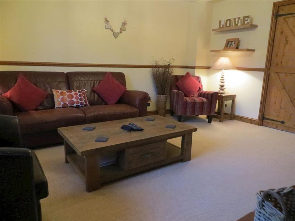 Living room in Mulberry Cottage, Heacham, near Hunstanton, Norfolk