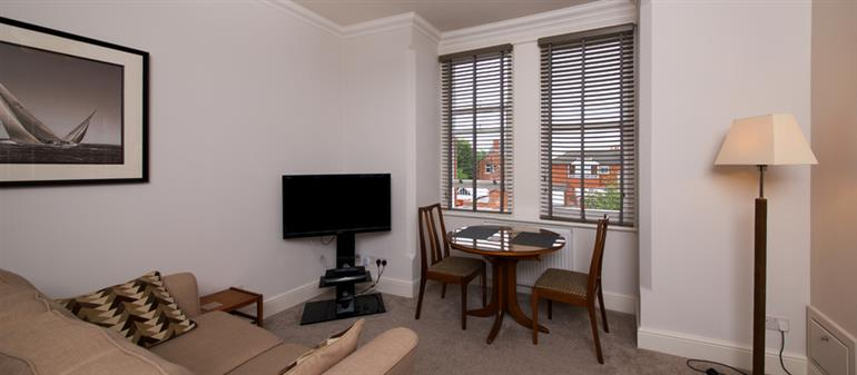 Living room in No. 4 Paramount Apartments, Lytham St Annes