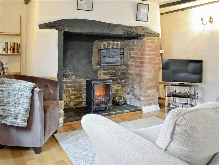 Living room in North Town Cottage, Sampford Courtenay near Okehampton