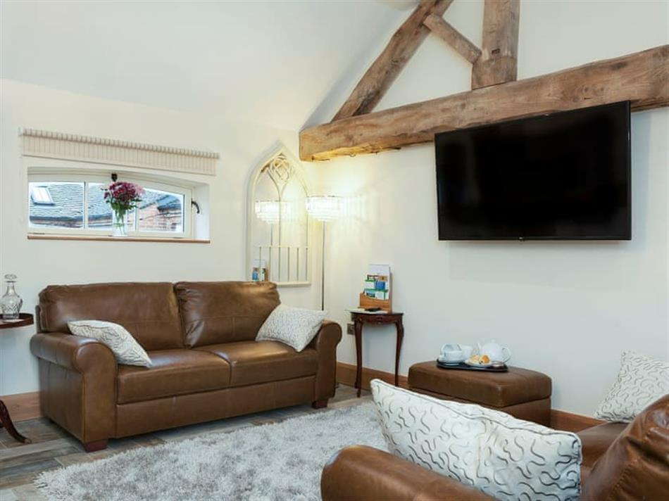 Living room in Ostrich Barns - The Dairy, Longford, near Ashbourne
