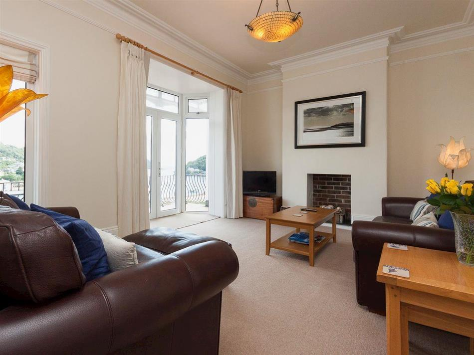 Living room in Oystercatcher, Dartmouth