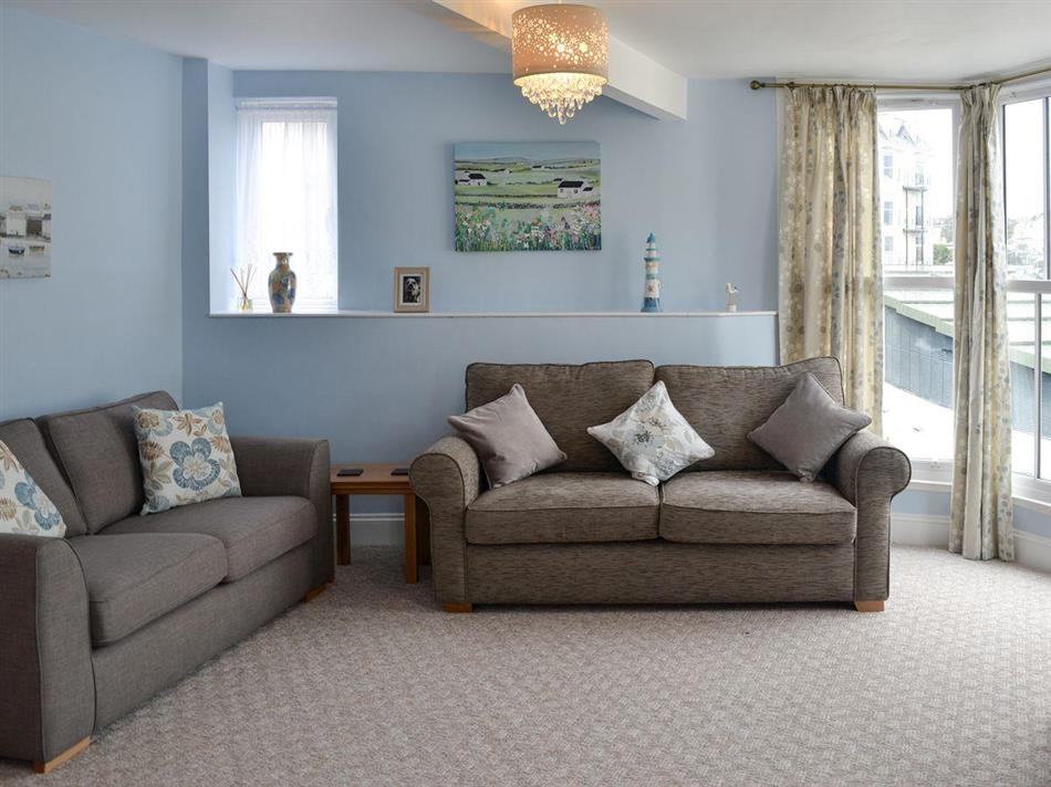 Living room in Seagulls Loft, Ilfracombe, near Woolacombe, Devon