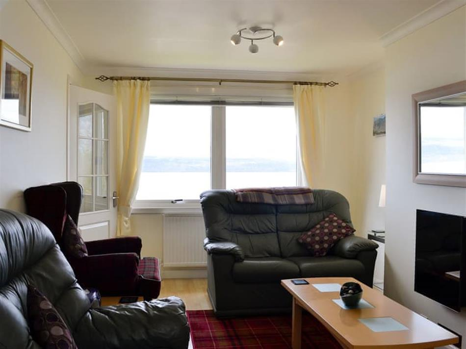 Living room in Seaview Cottage, Drimnin, near Lochaline