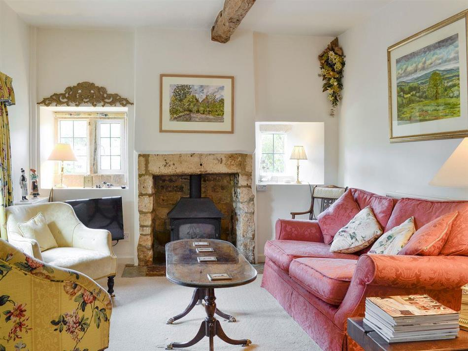 Living room in Spring Cottage, Chipping Campden, Gloucestershire