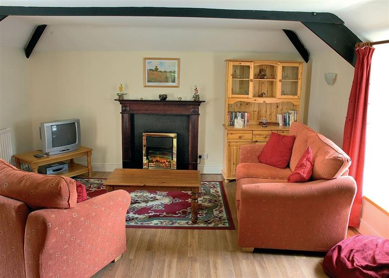 Living room in Stable Cottage, Northumberland
