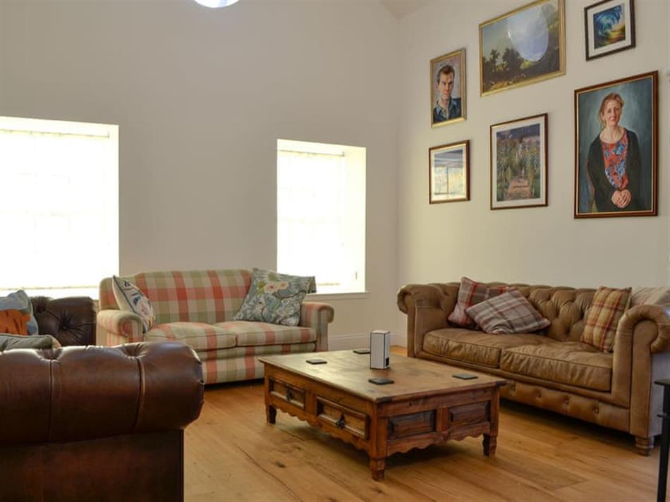 Living room in Straton Cottage, St Cyrus, near Montrose