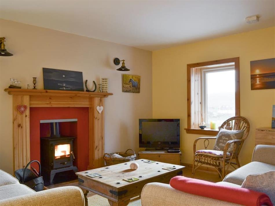 Living room in The Cottage, Skallary, Isle of Barra