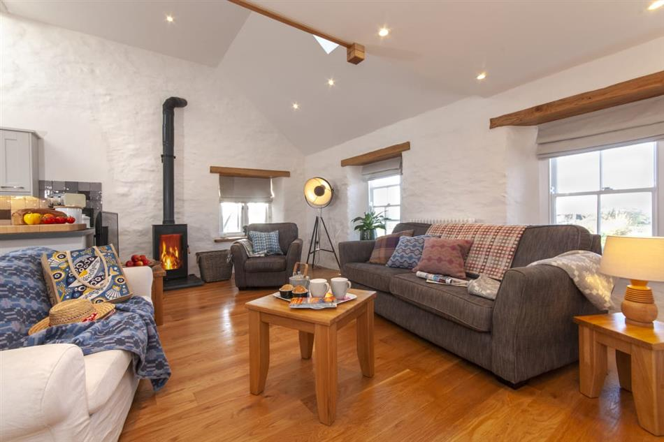 Living room in The Loft, Porthgain