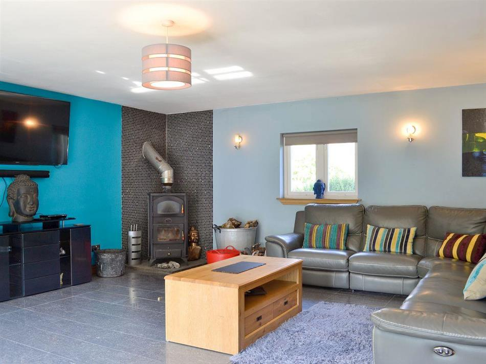 Living room in The Ranch, Glen Massan near Dunoon